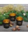 3er-Set Teelichthalter Tinka gold