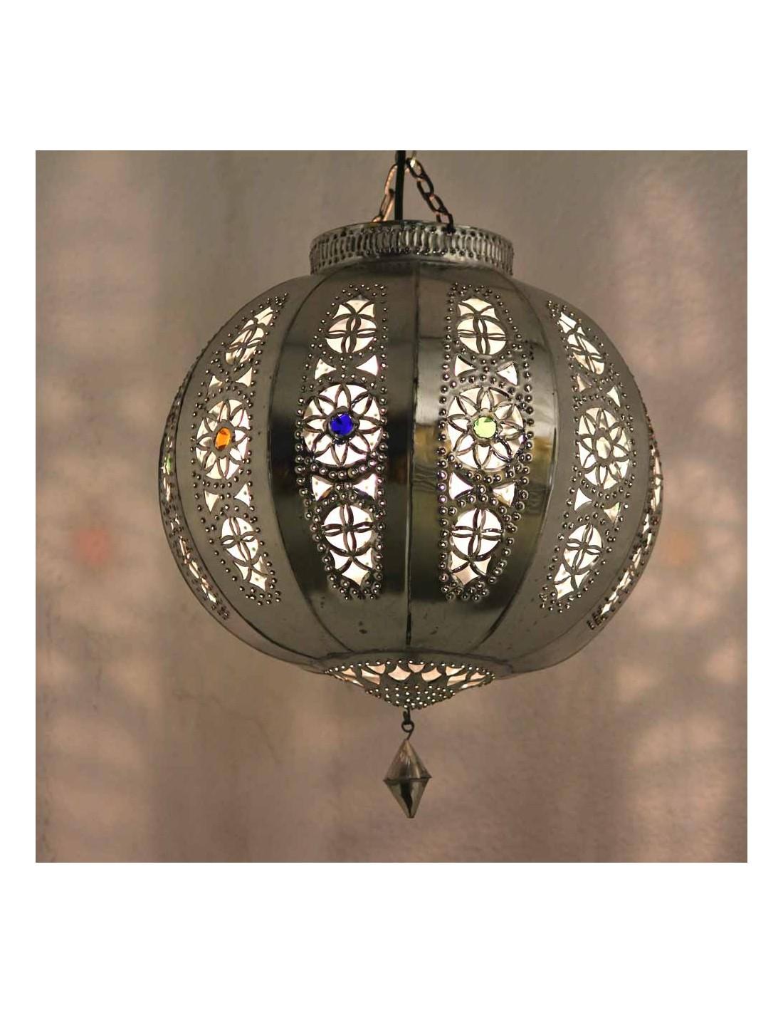 orientalische lampe silberkugel yali marokko galerie. Black Bedroom Furniture Sets. Home Design Ideas
