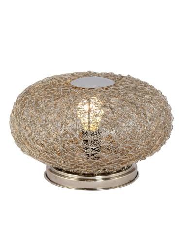 Tischlampe Ciari aus Silberdraht ø 30cm