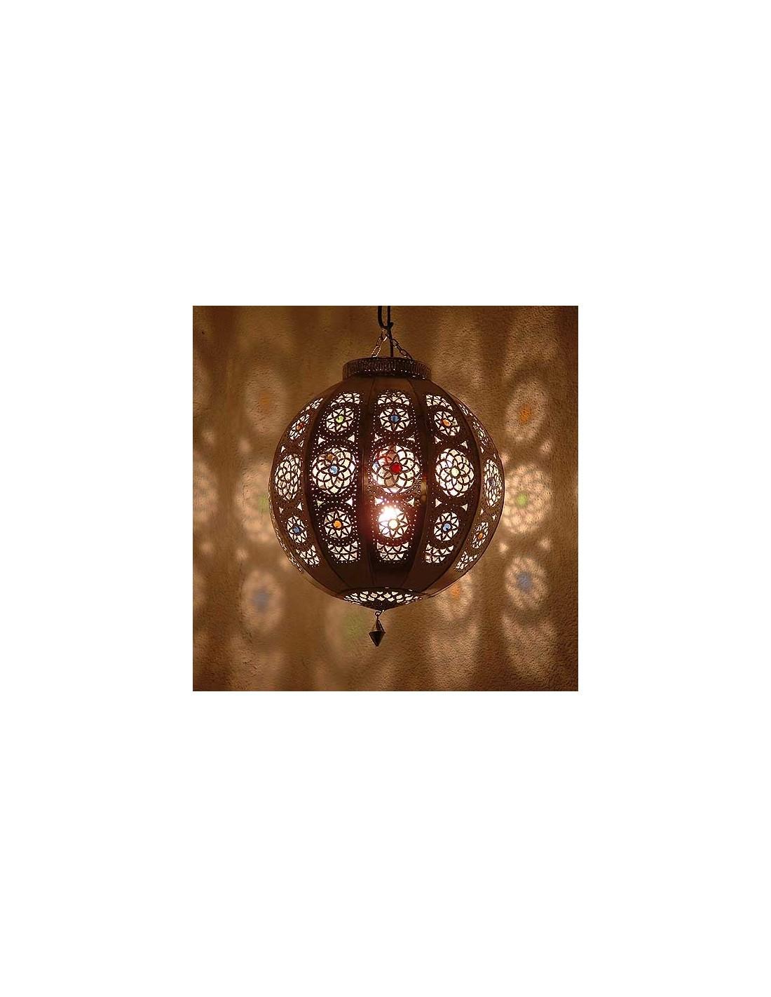 Orientalische Lampe Rana silber - albena Marokko Galerie