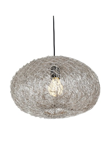 Trendlampe Issa aus Silberdraht ø 36cm