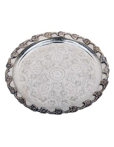 Marokkanisches Silbertablett Tasiv 50cm Antik Nr.18