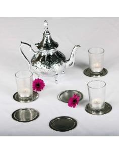 6 Stk. Untersetzer für Teegläser 9cm Lima
