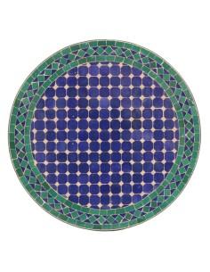 Mosaik Tischplatte ø60cm Fassia blau/grün/natur