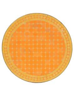 Mosaik Tischplatte ø60cm Metak gelb/gelb