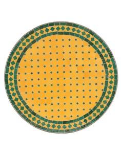 Mosaik Tischplatte ø60cm Anuk gelb/grün