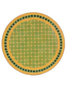 Mosaik Tischplatte ø60cm Guno hellgrün/gelb/dunkelgrün