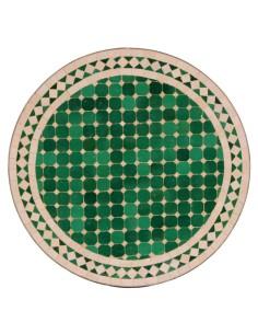 Mosaik Tischplatte ø60cm Mebo grün/natur
