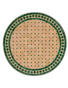 Mosaik Tischplatte ø60cm Egün natur/grün