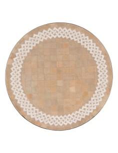 Mosaik Tischplatte ø60cm Latief natur/weiss