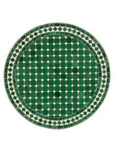 Mosaik Tischplatte ø60cm Hamra grün/weiss