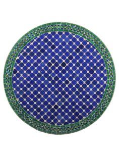 Mosaik Tischplatte ø80cm Fassia blau/grün/natur