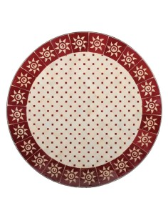 Mosaik Tischplatte ø80cm Sumil rot/natur Sonne