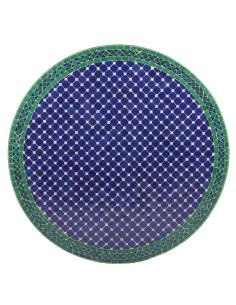 Mosaik Tischplatte ø100cm Fassia blau/grün/natur