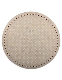 Mosaik Tischplatte ø120cm Yena natur/weiss/rot