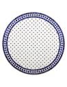 Mosaik Tischplatte ø120cm Issma weiss/blau