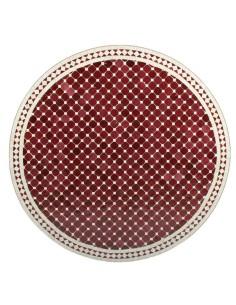Mosaik Tischplatte ø120cm Susat rot/weiss