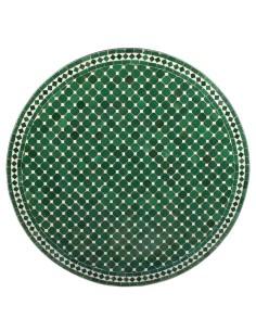 Mosaik Tischplatte ø120cm Hamra grün/weiss