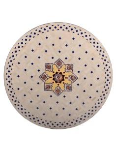 Mosaik Tischplatte ø120cm Jebon natur/bunt
