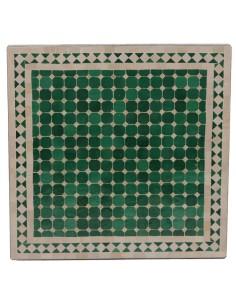 Mosaik Tischplatte 60x60 cm Mebo grün/natur