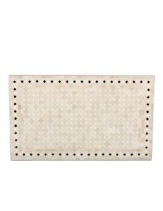 Mosaik Tischplatte 60x100 cm Yena natur/weiss/rot