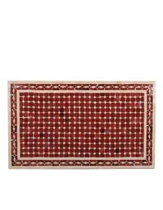 Mosaik Tischplatte 60x100 cm Renak rot/natur/schwarz