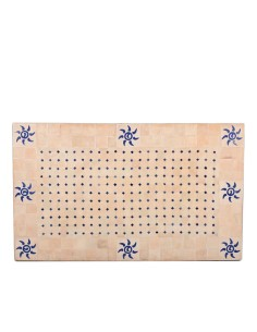 Mosaik Tischplatte 60x100 cm Azar natur/blau