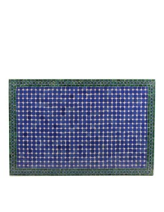 Mosaik Tischplatte 80x120 cm Fassia blau/grün/natur