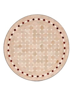 Mosaiktisch Couchtisch ø60cm, Variante 2, Yena natur/weiss/rot