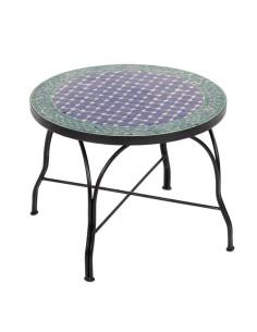 Mosaiktisch Couchtisch ø60cm, Variante 2, Fassia blau/grün/natur