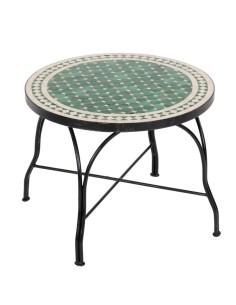 Mosaiktisch Couchtisch ø60cm, Variante 2, Mebo grün/natur