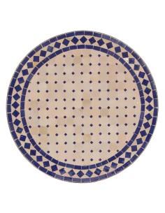 Mosaiktisch Couchtisch ø60cm, Variante 2, Ebau natur/blau