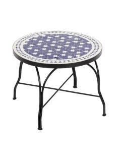 Mosaiktisch Couchtisch ø60cm, Variante 2, Maar blau/weiss Sterne
