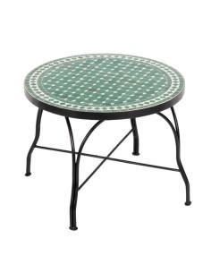 Mosaiktisch Couchtisch ø60cm, Variante 2, Hamra grün/weiss