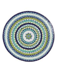 Mosaiktisch Couchtisch ø60cm, Variante 2, Hiawa blau/weiss/türkis/grün