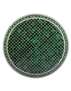 Mosaik Tischplatte ø100cm Menak grün/natur/schwarz