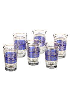 6 marokkanische Teegläser Tunis blau