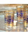 6 orientalische Teegläser Tunis blau