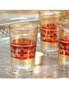 6 marokkanische Teegläser Tunis rot