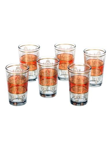 6 marokkanische Teegläser Tunis orange