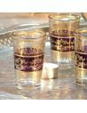 6 marokkanische Teegläser Tunis aubergine