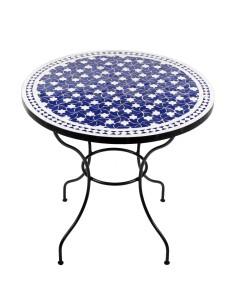 Marokkanischer Mosaiktisch Maar blau 80 cm