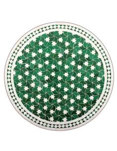 Marokkanischer Mosaiktisch Maar grün 80 cm