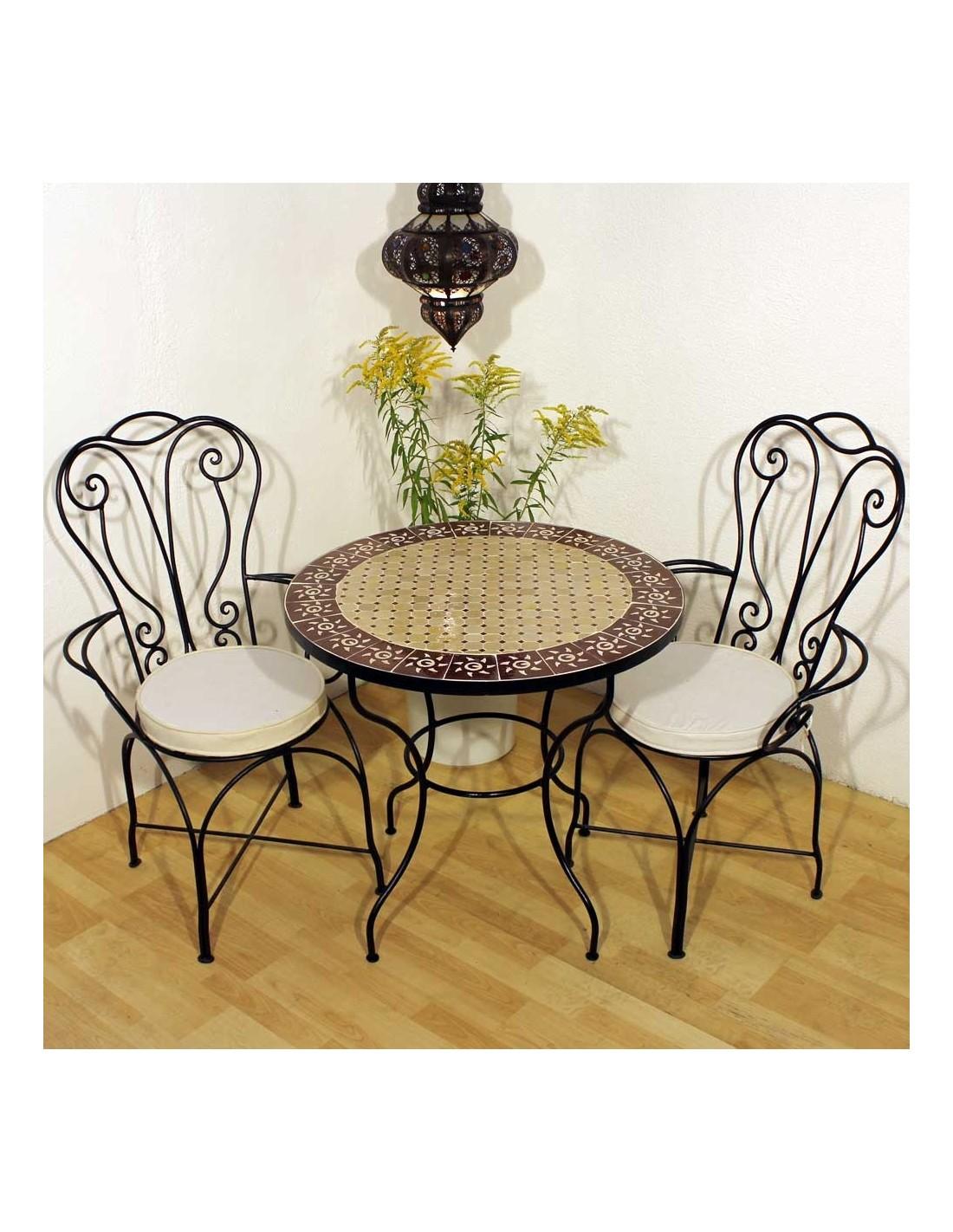 mosaiktisch sumil 80cm rund marke albena marokko galerie. Black Bedroom Furniture Sets. Home Design Ideas