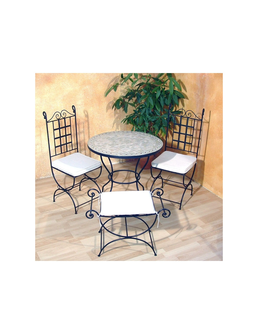 mosaiktisch yena 80cm rund marke albena marokko galerie. Black Bedroom Furniture Sets. Home Design Ideas
