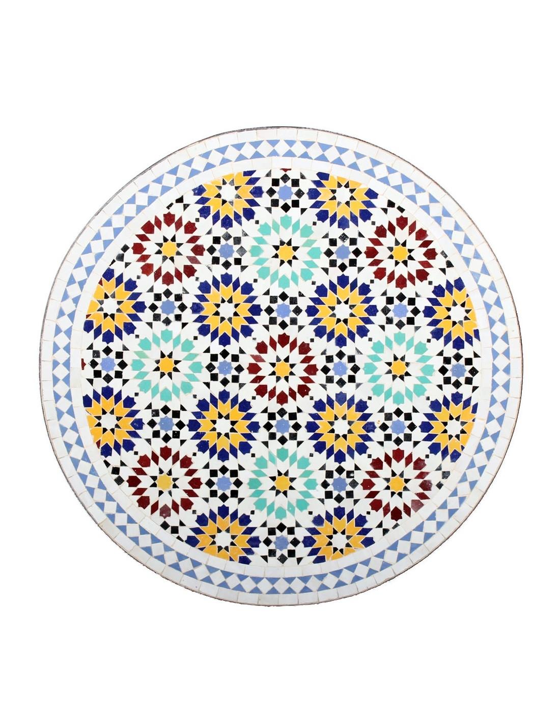 Mosaiktisch lisu 80cm rund der marke albena marokko galerie for Marokkanischer mosaiktisch
