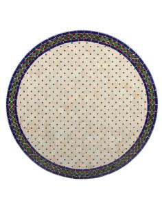 Marokkanischer Mosaiktisch Jamal 100 cm