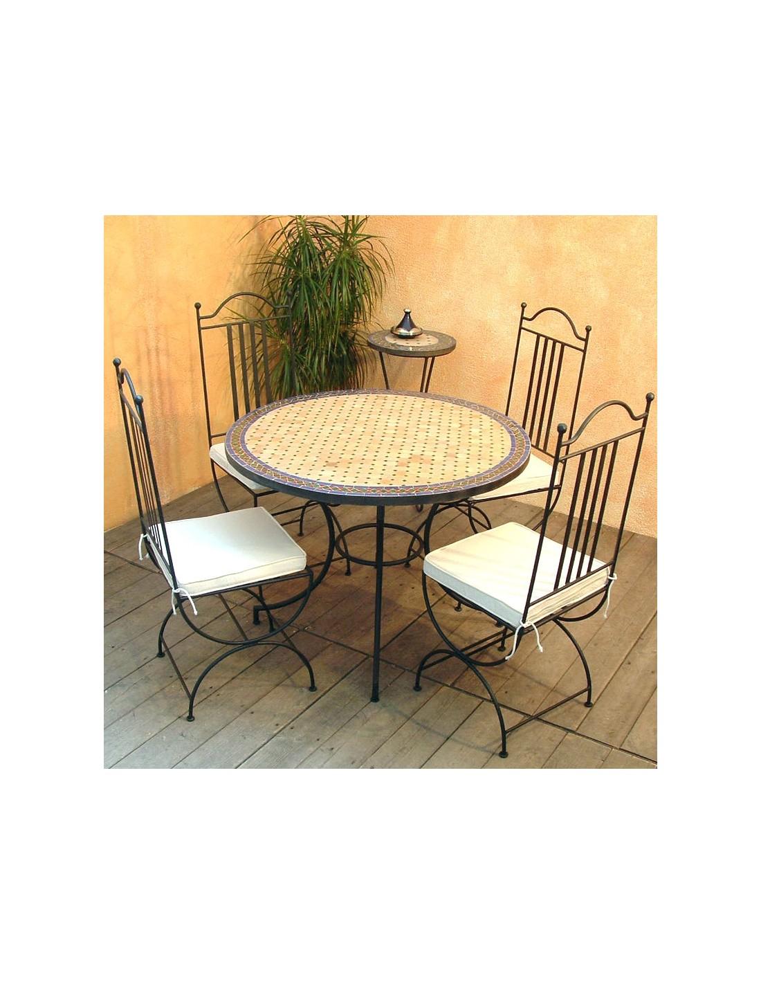 mosaiktisch jamal 100cm rund albena marokko galerie. Black Bedroom Furniture Sets. Home Design Ideas