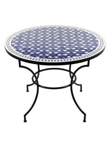 Marokkanischer Mosaiktisch Maar blau 100 cm
