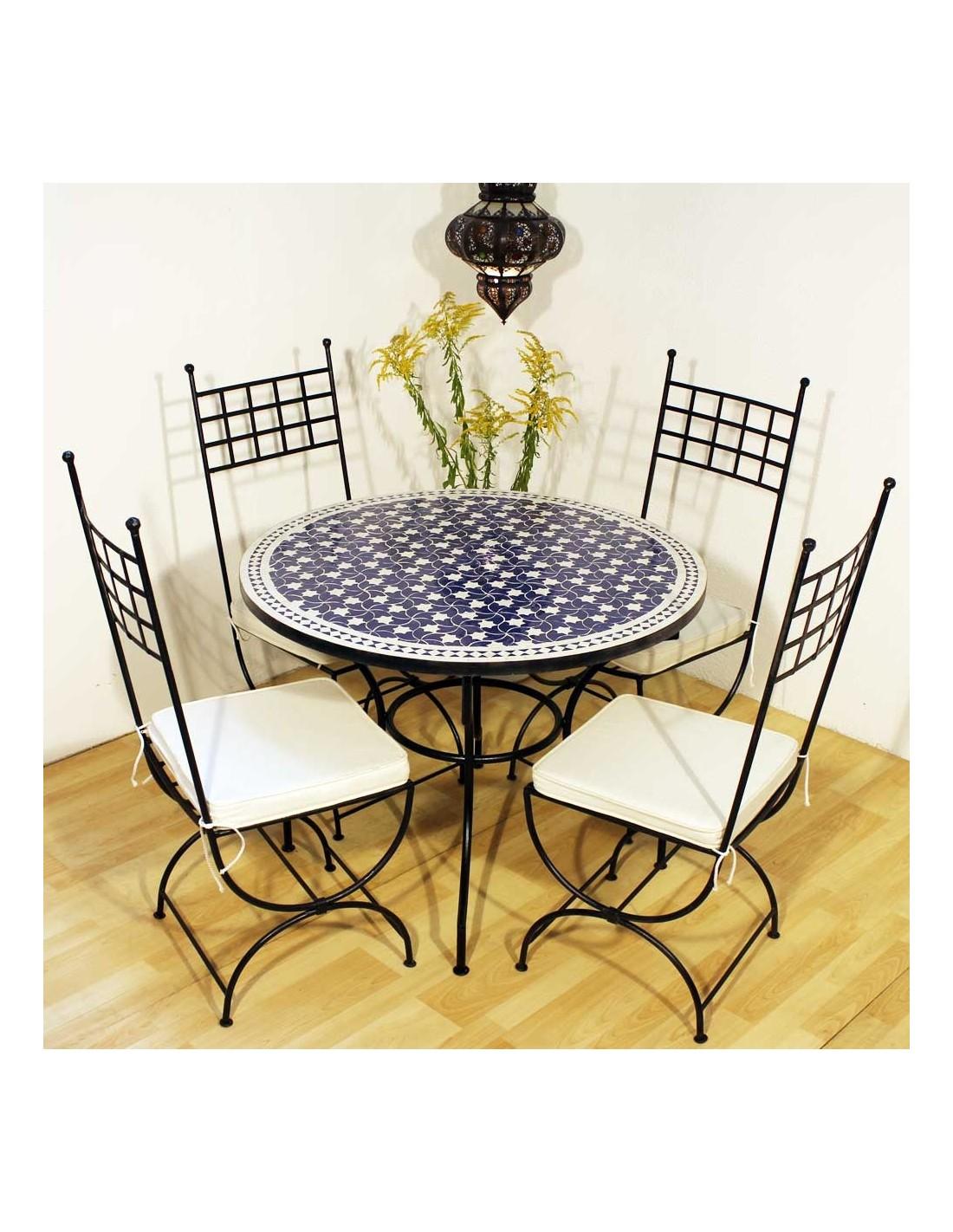 mosaiktisch maar blau 100cm albena marokko galerie. Black Bedroom Furniture Sets. Home Design Ideas